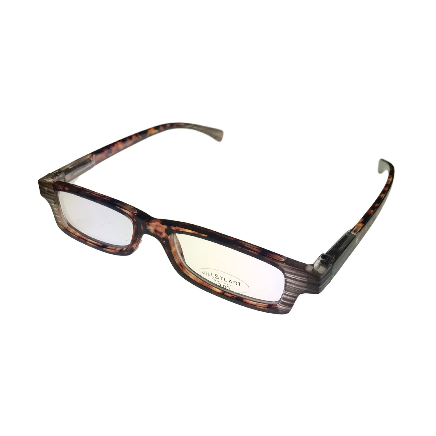 Jill Stuart Reading Womens Glasses JSR1 Demi Amber Plastic Rectangle 2.0 Power - Medium - Thumbnail 0