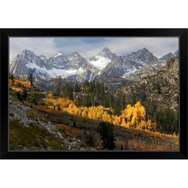 """Autumn in the Sierra Nevada"" Black Framed Print"