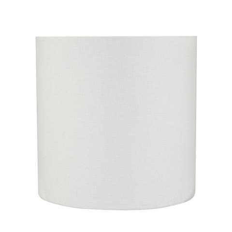 """Aspen Creative Drum (Cylinder) Shaped Spider Construction Lamp Shade in White (8"""" x 8"""" x 8"""")"""