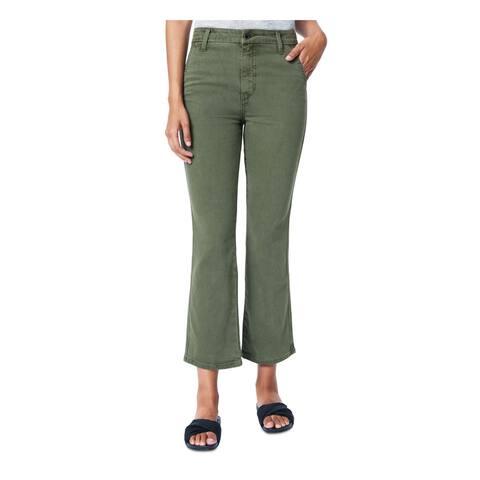 JOE'S Womens Green Solid Capri Jeans Size 32