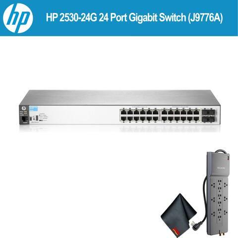 HP 2530-24G 24 Port Gigabit Switch (J9776A) W/ Powerstrip - Bundle