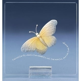 """7"""" Lasting Expressions """"The Butterfly Counts the Moments Not the Months"""" Plaque"""