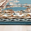 "Allstar Blue Woven High Quality Rug. Traditional. Persian. Flower. Western. Design Area Rug (5' 2"" x 7' 1"") - Thumbnail 5"