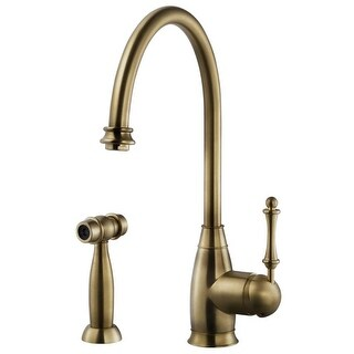 Houzer CHASS-682 Charlotte Traditional Kitchen Faucet with Sidespray and CeraDox (4 options available)