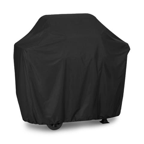 """72"""" Black PVC Oxford Cloth Outdoor BBQ Cover Waterpoof Wind Proof Barbecue Grill Protection 185 x 66 x 130cm"""