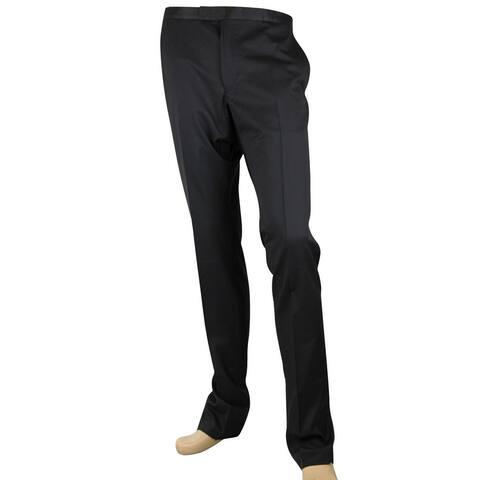 Gucci Men's Skinny Black Wool 60 Evening Dress Pant 318144 Z2000