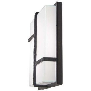 """Kovacs P1349-039-L Sirato 14"""" Tall Integrated LED Outdoor Wall Sconce with Miter"""