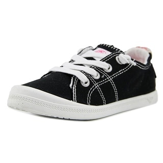 Roxy RG Bayshore Youth Round Toe Canvas Black Sneakers