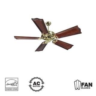 "Craftmade K10982 CXL 56"" 5 Blade Energy Star Indoor Ceiling Fan - Blades Included - polished brass"