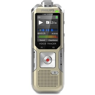 """Philips DVT6500/00 Philips Voice Tracer DVT6500 4GB Digital Voice Recorder - 4 GB Flash MemoryLCD - Headphone - 1140"