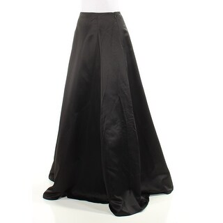 Womens Black Full Length A-Line Evening Skirt Juniors Size 3
