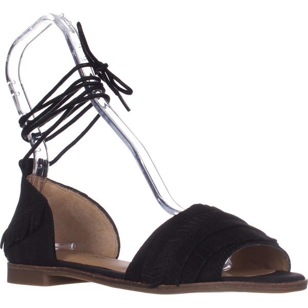 Lucky Gelso Tie Up Sandals, Black