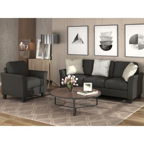 TiramisuBest Living Room Furniture chair and frabic 3-seat Sofa set