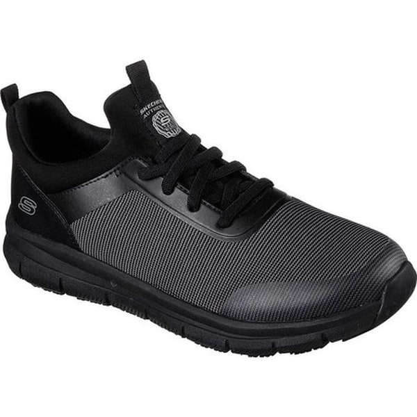 1aec3356467 Skechers Men  x27 s Work Relaxed Fit Wishaw Slip Resistant Sneaker  Black Charcoal