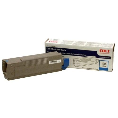 OKI High-Yield Toner Cartridge (Type C8)- Cyan OKI 43324403 Cyan Toner for C5500N C5800LDN 5K Pages