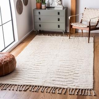 Safavieh Handmade Casablanca Shag Hemma Tribal Wool Rug
