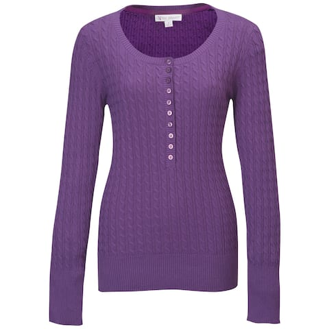 Lilac Bloom Ladies 'Audrey' Cable Knit Cotton Sweater