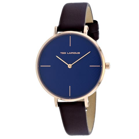 Ted Lapidus Women's Classic A0705UDFIM Blue Dial watch