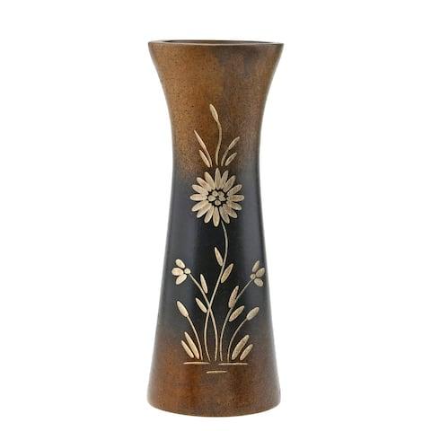 Handmade Rich and Natural Flower Mango Tree Wood Flower Vase (Thailand)