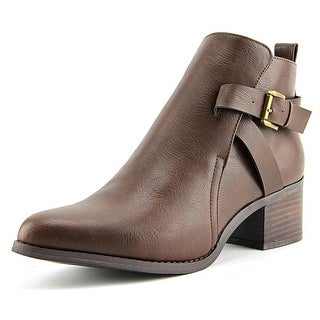 Mia Nahira Pointed Toe Synthetic Ankle Boot
