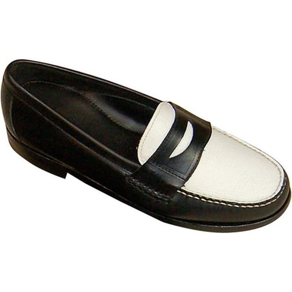 4e60ed8c79d0 Shop David Spencer Men s Shag Penny Loafer Black Waxy White Floater - Free  Shipping Today - Overstock - 7951999