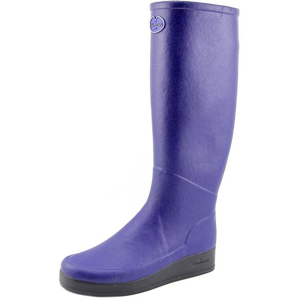 Le Chameau BTE Paris J Fe Women Round Toe Synthetic Blue Rain Boot
