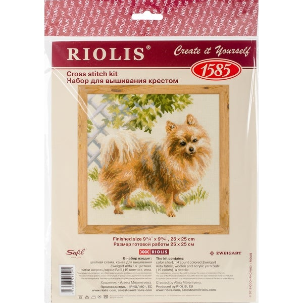 "Pomeranian Counted Cross Stitch Kit-9.75""X9.75"" 14 Count"