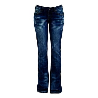 Cowgirl Tuff Western Denim Jeans Womens Natural Pathmaker Med JNPTMR