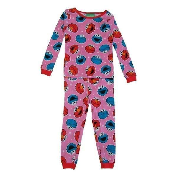 d41d0802c Shop Sesame Street Little Girls Pink Elmo Long Sleeve 2 Pcs Pajama Set -  Free Shipping On Orders Over $45 - Overstock - 18163650