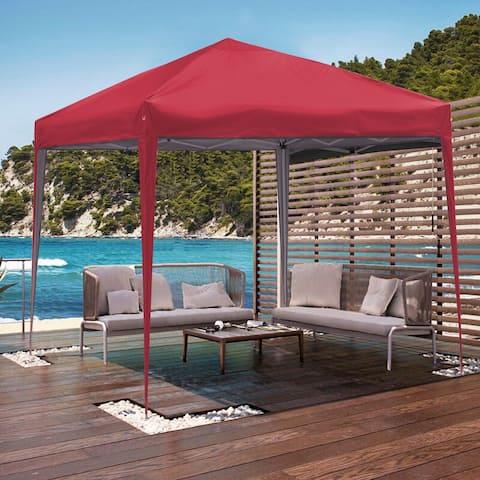 Ainfox 10 x 10 ft Pop up Canopy Tent Gazebo Party,Gazebo,Beach,Camping,Sun Shelter,Market,Tailgate Party,Backyard