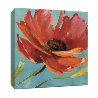 """PTM Images 9-152425  PTM Canvas Collection 12"""" x 12"""" - """"Flamboyant II"""" Giclee Flowers Art Print on Canvas"""