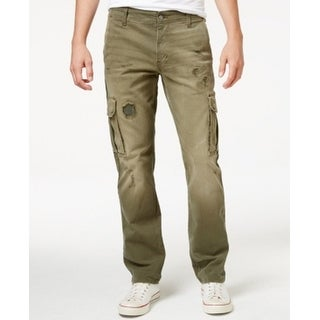 LRG NEW Olive Drab Green Mens Size 38 Surplus Distressed Cargo Pants