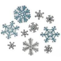 Snowflakes - Jolee's Christmas Embellishments 10/Pkg