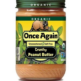 Once Again - 100% Organic Crunchy Peanut Butter ( 12 - 16 OZ)