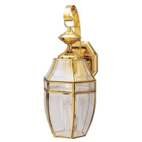 "Westinghouse 6697000 15"" Tall 1 Light Outdoor Lantern Wall Sconce - Gold"