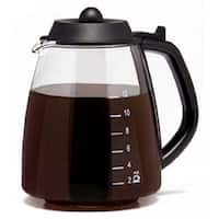Medelco GL312BK 12-Cup Glass Millennium Style Replacement Carafe