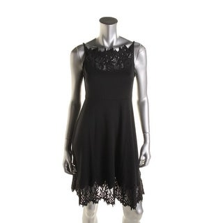 Free People Womens Ponte Lace Trim Casual Dress - XS