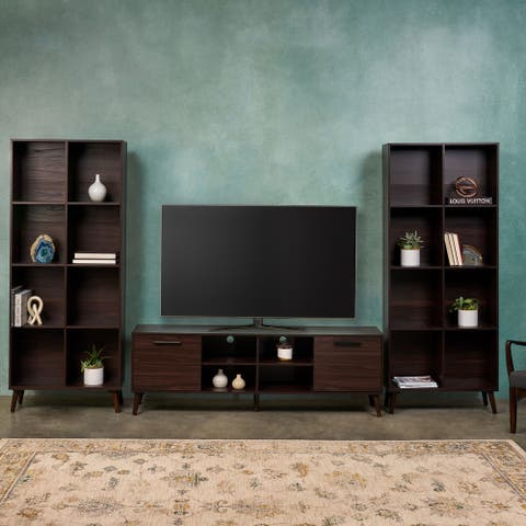 Doneva Rubberwood 3-piece Entertainment Set by Christopher Knight Home