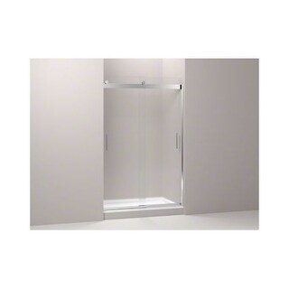 "Kohler K-706008-D3 Levity(R) Sliding Shower Door, 74"" H x 44-5/8 - 47-5/8"" W, with 1/4"" Thick Frosted Glass and Blade Handles"