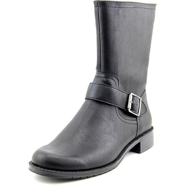 Aerosoles Bridesmaid Women Round Toe Leather Black Mid Calf Boot