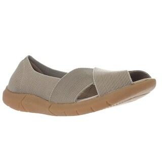 BareTraps Kami Peep Toe Comfort Flats - Taupe