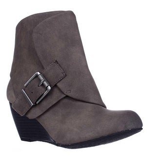 AR35 Coreene Cuffed Wedge Ankle Booties - Chocolate