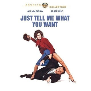 Just Tell Me What You Want DVD Movie 1980