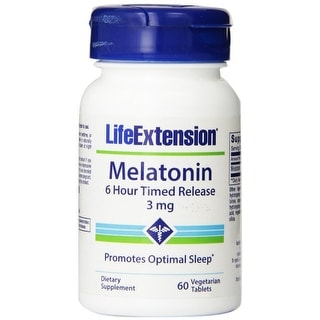 Life Extension Melatonin 6 Hour Timed Release, 60 vegetarian tablets