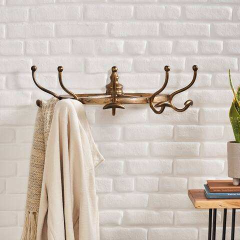 Comer Indoor Aluminum Handcrafted Wall Mounted Coat Rack by Christopher Knight Home