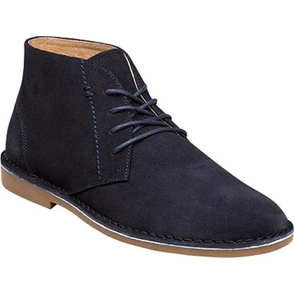 33daee32b2c9 Shop Nunn Bush Men s Galloway Plain Toe Chukka Boot Navy Suede - Free  Shipping Today - Overstock - 14313174