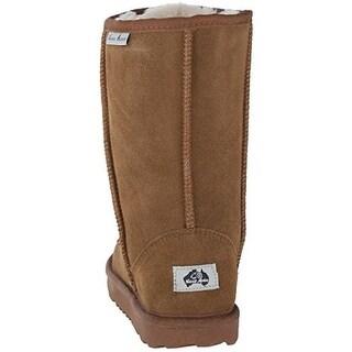 Aussie Merino Girls Bridget High Mid-Calf Boots Solid Suede