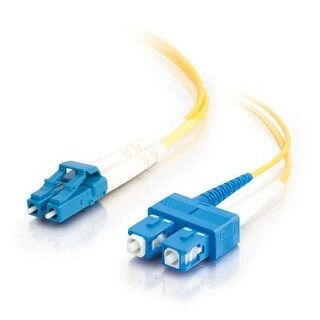 C2g / Cables To Go 26260 Lc-Sc 9/125 Os1 Duplex Single-Mode Fiber Optic Cable (2 Meters, Yellow)