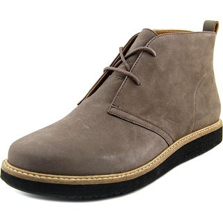 Clarks Glick Willa Women Round Toe Leather Gray Chukka Boot