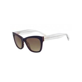 Nine West Womens Cat Eye Sunglasses Contrast Trim Oversized - Navy - o/s